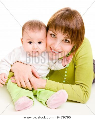 Mother Embracing Infant
