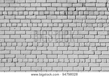 Image Of An Old Wall, Built Of White Sand-lime Brick