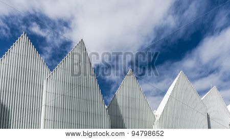 Zigzagging roof of  The Szczecin Philharmonic Hall