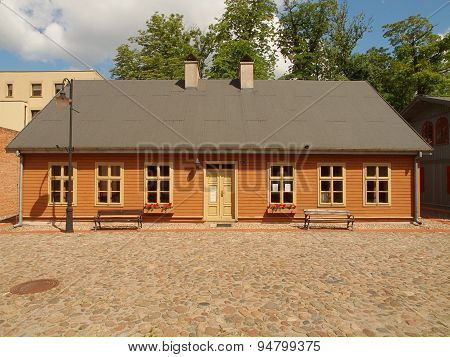 House settlement of an old Lodz.