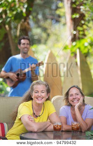 Pretty Female Friends Outdoors
