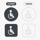 picture of handicapped  - Disabled sign icon - JPG