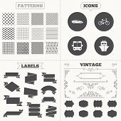 pic of ship  - Seamless patterns - JPG