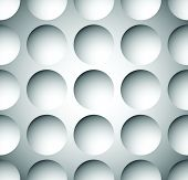 image of grayscale  - Grayscale circle pattern with seamlessly repeatable geometry - JPG
