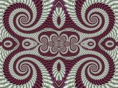 image of symmetrical  - Symmetrical Textured Background with Spirals - JPG