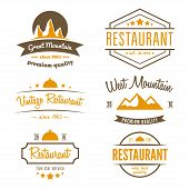 Set of different logo, label, emblem, badge and logotype elements for restaurant, cafe, cafeteria, b poster
