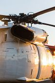 picture of military helicopter  - big military helicopter at the airport closeup - JPG