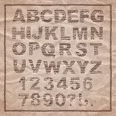 picture of paper craft  - Hand drawn alphabet in ethnic style - JPG