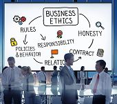 picture of responsible  - Business Ethnics Rules Honesty Responsibility Concept - JPG