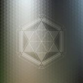 foto of hexagon pattern  - Abstract pattern on blurred hexagonal background - JPG