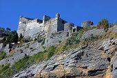 foto of saracen  - A Castle in Portovenere cliff - JPG