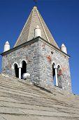 pic of saracen  - Details of a church in Portovenere - JPG