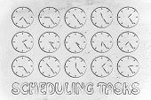 stock photo of pass-time  - scheduling tasks through time - JPG