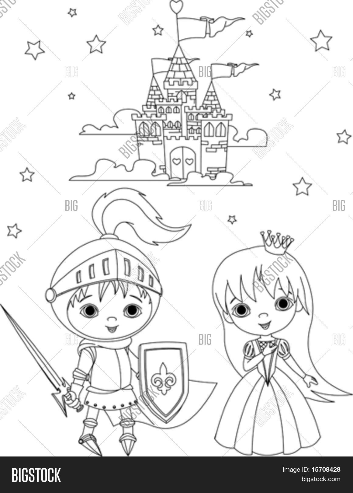 Kleurplaten Prinsessen En Ridders.Kleurplaat Ridder