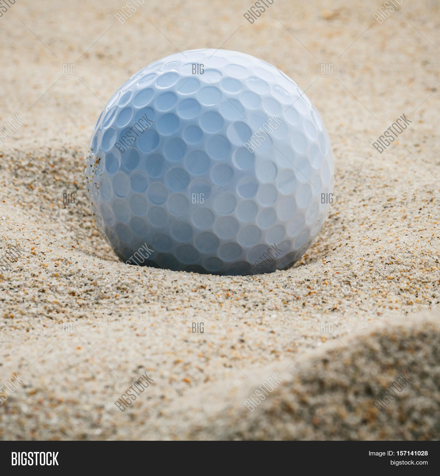close golf ball sand bunker shallow image u0026 photo bigstock