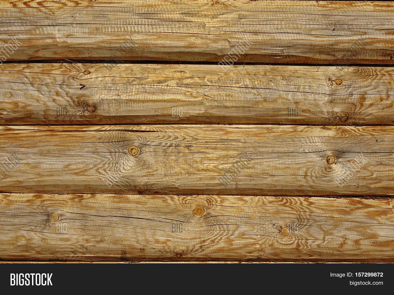 Modern Hand Hewn Natural Log Cabin Wall Facade Fragme
