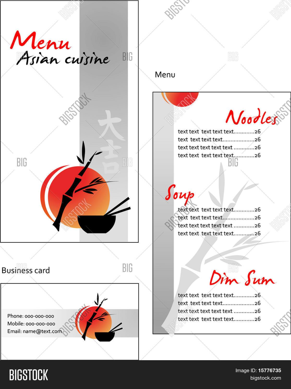 template designs menu business vector photo