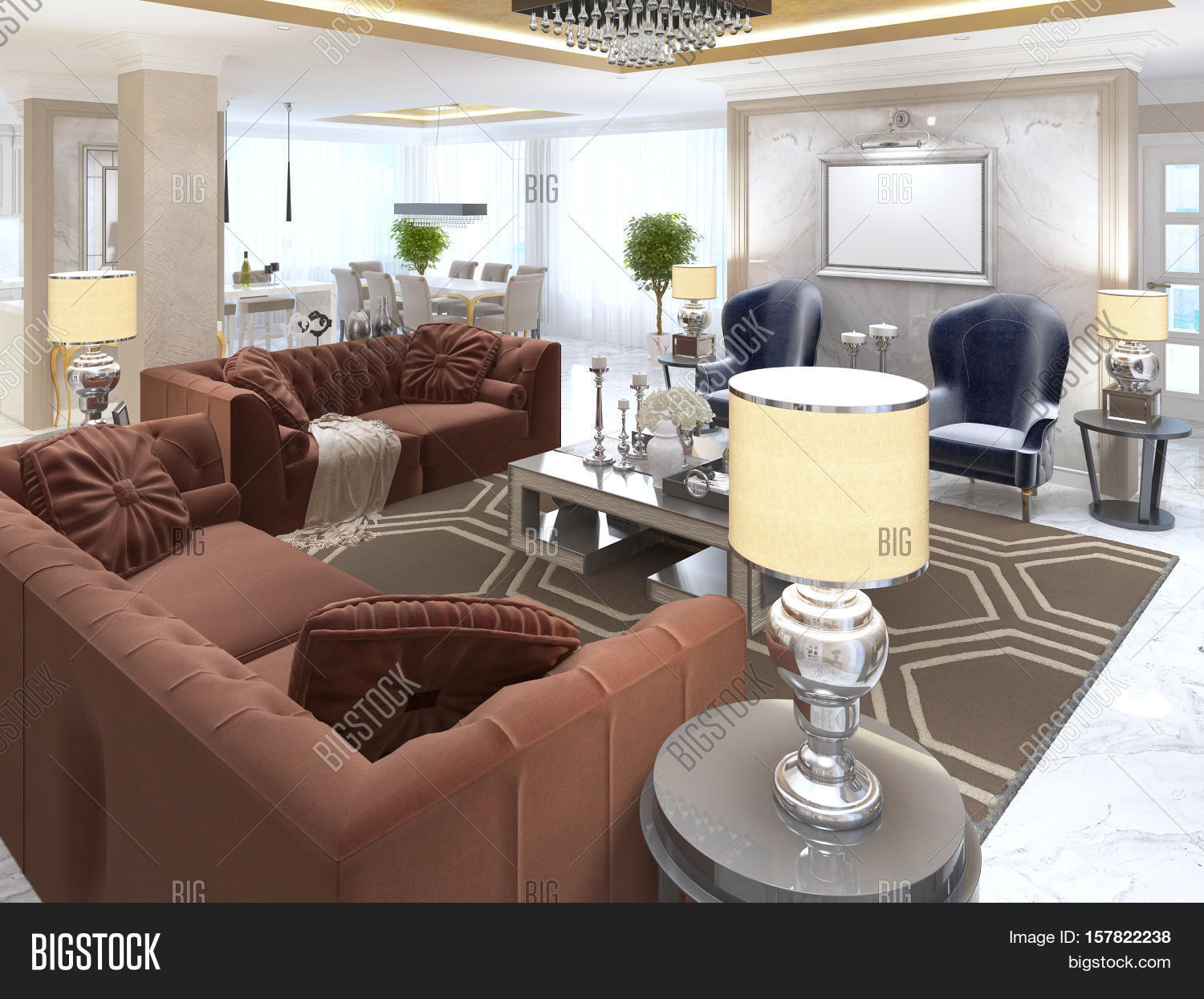 Living room art deco style image photo bigstock for Art deco style living room furniture