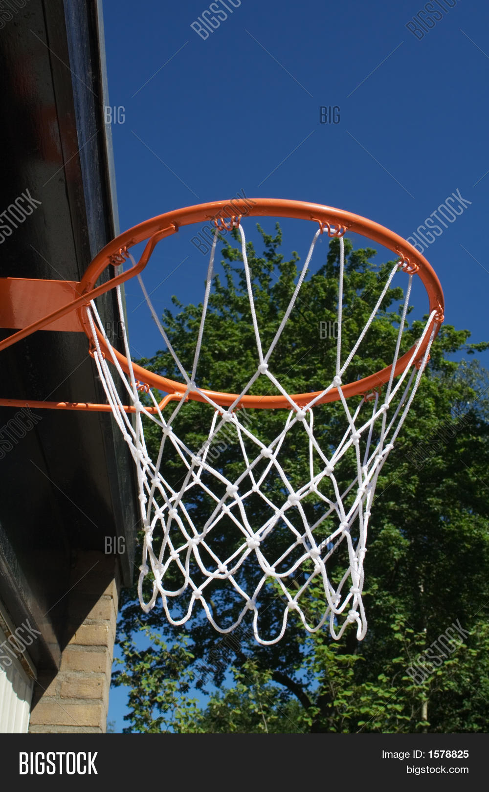 Basketball hoop attached garage image photo bigstock for Basketball garage