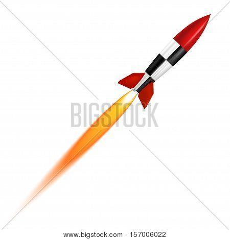 The launch isolated of a white background