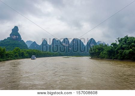 Li River With Misty Clouds, China