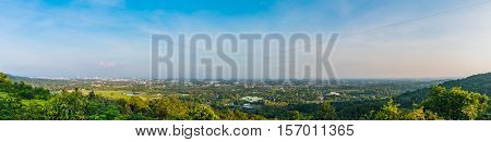 panorama shot of Chiang Mai (the old city)Thailand for back ground usage.
