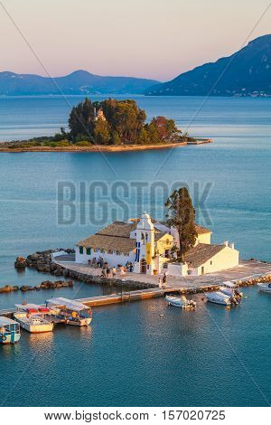 Vlacherna Orthodox Monastery In Corfu