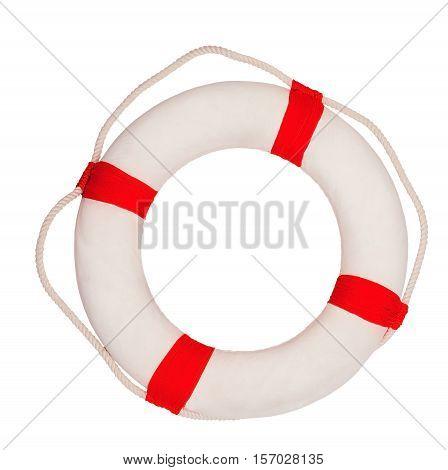 Sea lifebuoy isolated on a white background