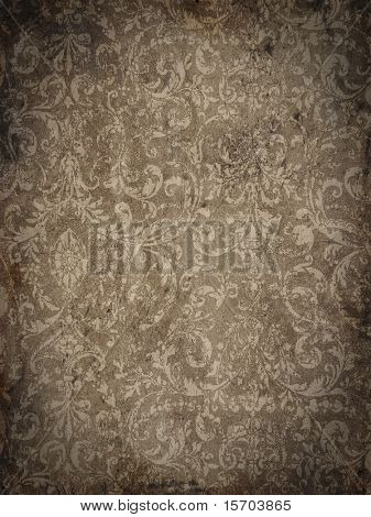 Grungy brocade background