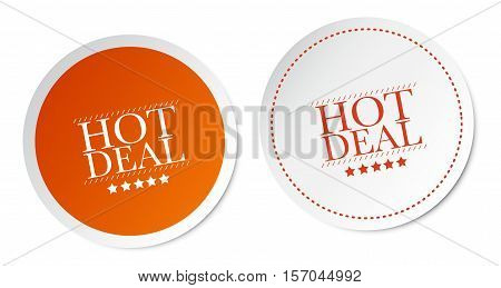 Hot deals on white and orange stickers