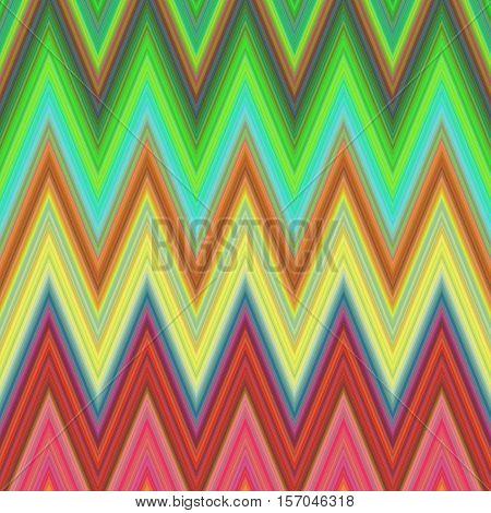 Multicolored zig zag stripe pattern background design