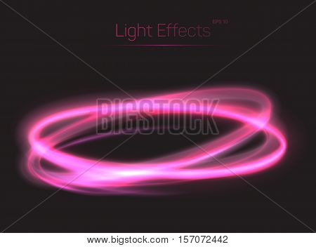 Crossing oval light effects for abstract background. Fading moving particles making magical light effect. Can be used for poster background or plasma shining effect, ring radiance light sparkle