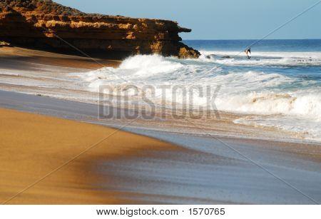 Surfers At Bells Beach, Torquay