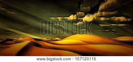 Desert landscape   3D Render
