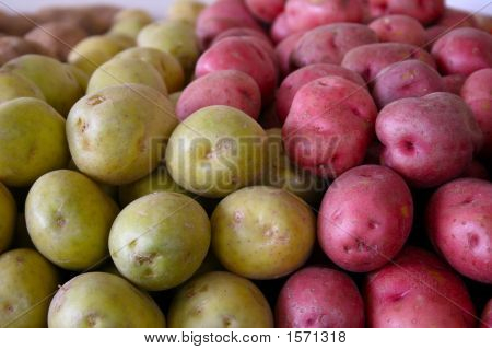 Green And Red Potatoes