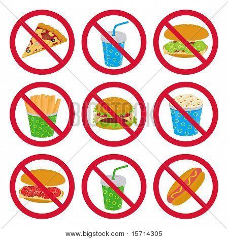Anti-fast food signs
