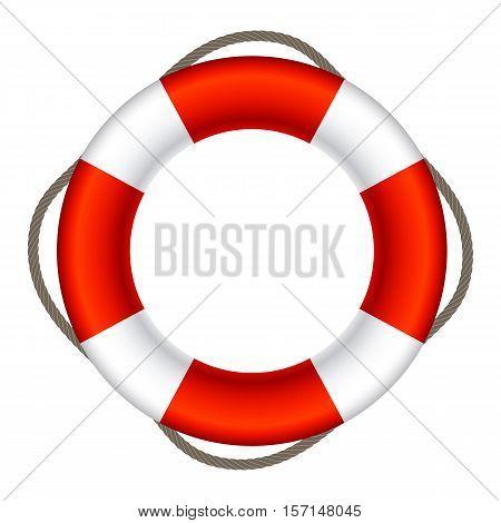 Lifebuoy Sign Symbol Isolated Vector Illustration EPS10