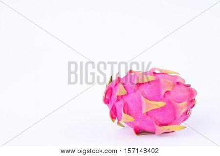 dessert vivid and vibrant dragon fruit (dragonfruit) or pitaya on white background healthy dragon fruit food isolated