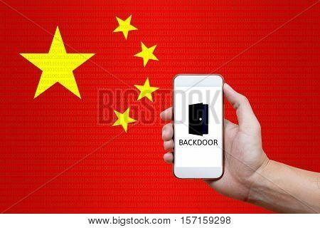 Secret backdoor in phones sending data to china.