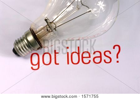 Got Ideas With Lightbulb