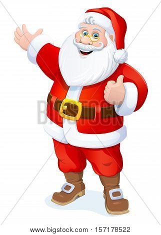 Christmas. Happy New year.  Santa Claus. Vector illustration