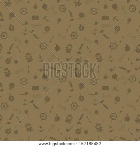 Seamless pattern with icons of things working cabinet