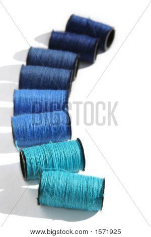 Blue Cotton Reels