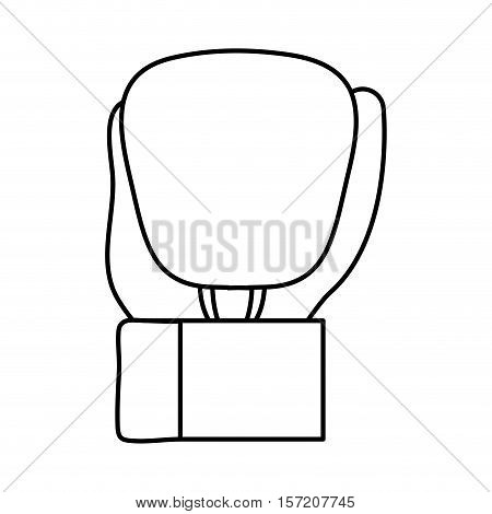 isolated boxing glove icon vector illustration graphic design