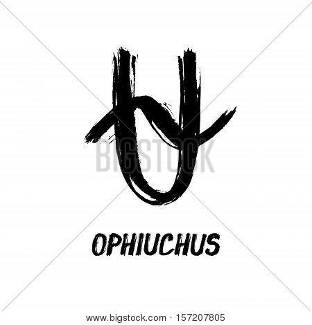 Grunge Zodiac Signs - Ophiuchus - New Zodiac Sign