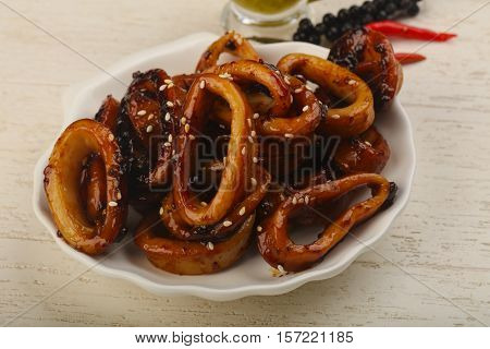 Squid Teriyaki Ring