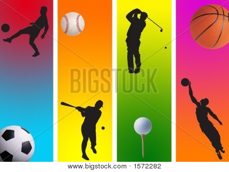Football, Golf And Basketball 3