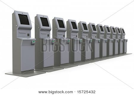 Raw atm machine - row