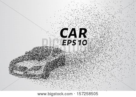 Car from the particles. Of the cars fly off the dots and small circles