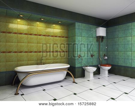 ethnic bathroom interior